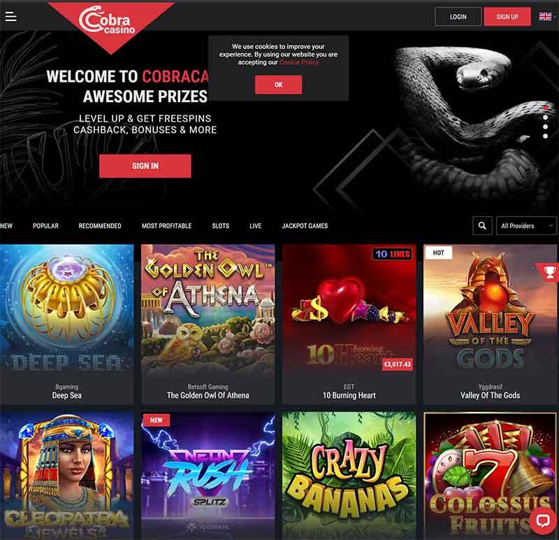 cobra casino lobby