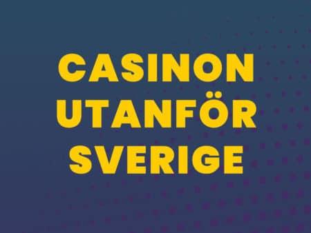 Casinon som accepterar spelare från Sverige