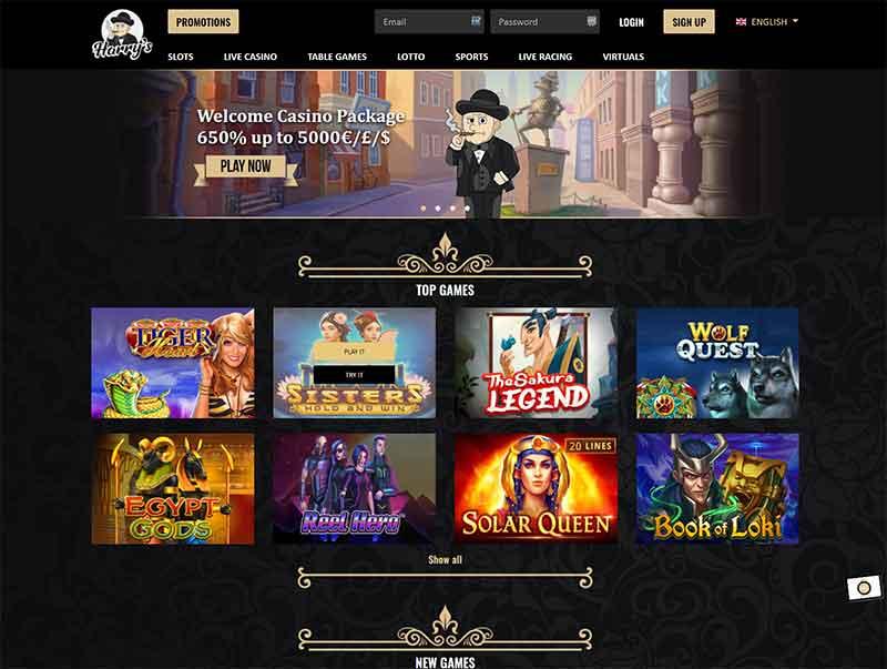 harrys casino spelutbud