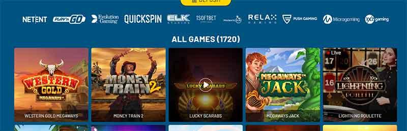 typiskt spelutbud hos casinon utan svensk licens